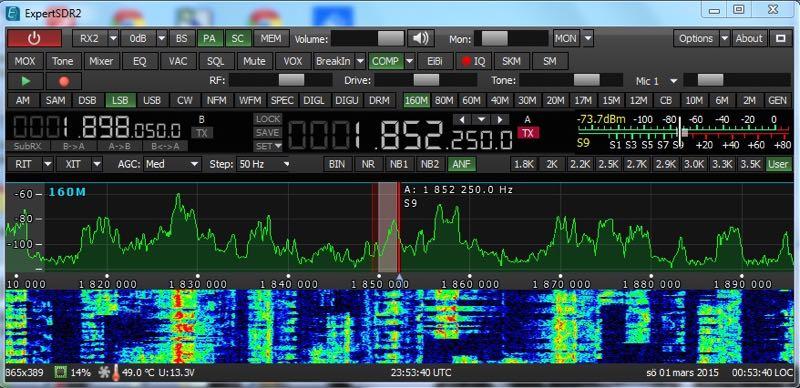 SunSDR2 screen shot